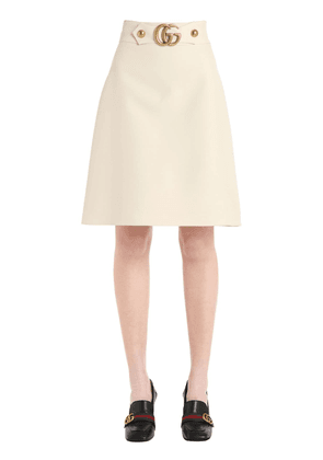 Gg Buckle High Waisted Cady Crepe Skirt