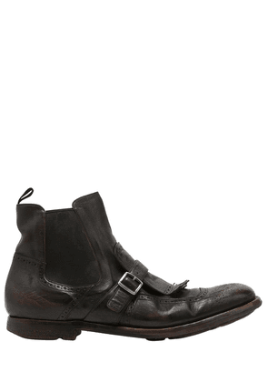 Shanghai  6 Glace Leather Boots