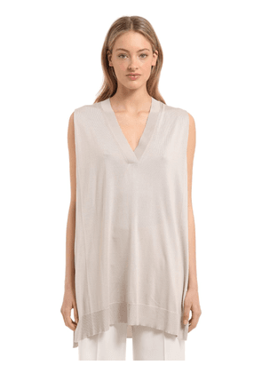 Fine Silk Knit Sleeveless Top