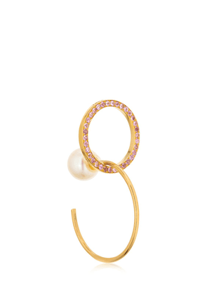 Twins Hoop Sapphires Right Mono Earring