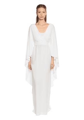 Flared Sleeves Cady Long Dress