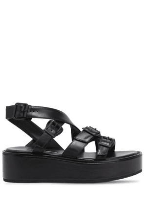 55mm Leather Wedges