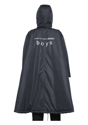 Hooded Techno Padded Poncho