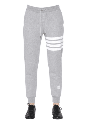 Intarsia Stripes Cotton Sweatpants