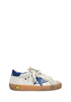 Superstar Mesh & Leather Sneakers