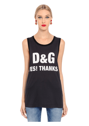 Yes! Thanks Jersey Sleeveless T-shirt