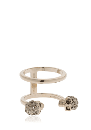 Gold Double Skulls Stacked Ring