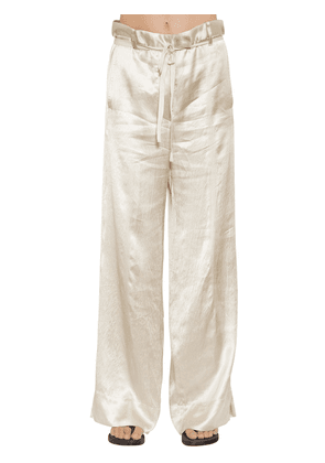 Fluid Satin Wide Leg Pants