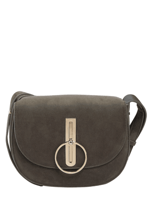 Large Compas Nubuck Shoulder Bag