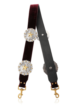 Regina Velvet & Leather Shoulder Strap