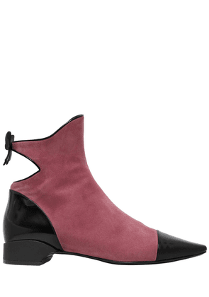 20mm Take A Bow Suede & Leather Boots