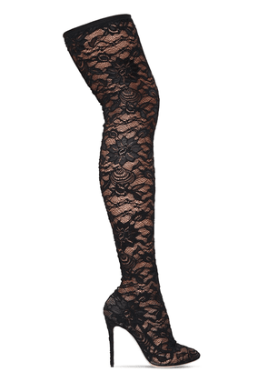 105mm Stretch Lace Over The Knee Boots