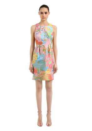 Floral Jacquard Mini Dress
