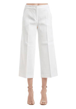 Stretch Piqué Wide Leg Pants