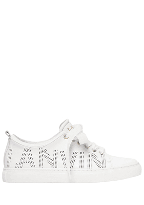 20mm Perforated Logo Leather Sneakers