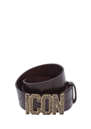 40mm Icon Buckle Leather Belt