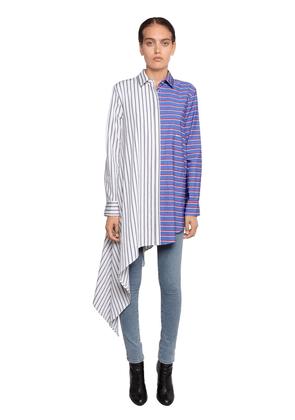 O.f.f. Striped Asymmetrical Poplin Shirt