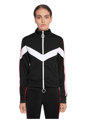 Woman Embroidered Zip-up Track Jacket