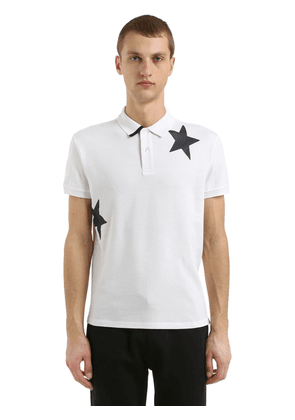 Stars Cotton Piqué Polo