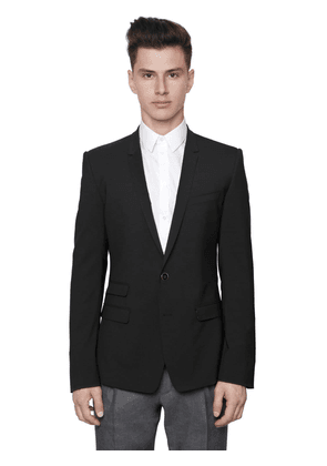 Stretch Wool Toile 2 Button Jacket