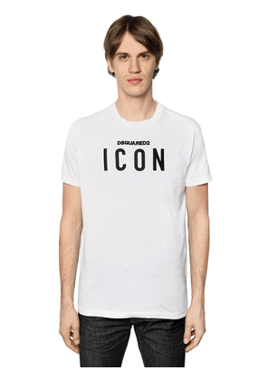 Icon Embroidered Cotton Jersey T-shirt