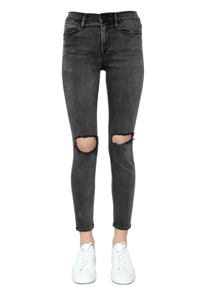 Le High Skinny Ripped Denim Jeans