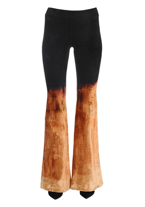 Gradient Bleached Velvet Flared Pants