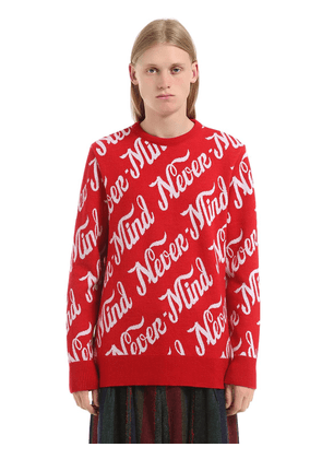 Never Mind Jacquard Knit Sweater