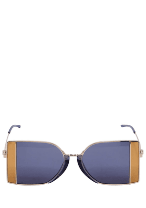 Squared See-thru Lens Sunglasses