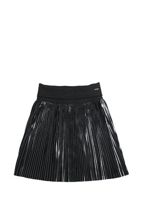 Acetate Pleated Skirt W/ Vinyl Effect