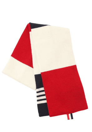 Cashmere Scarf With Stripes