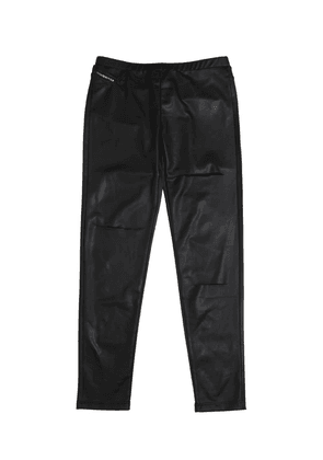 Destroyed Faux Leather Leggings