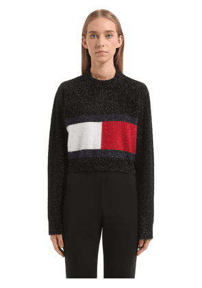 Flag Brushed Lurex Knit Sweater