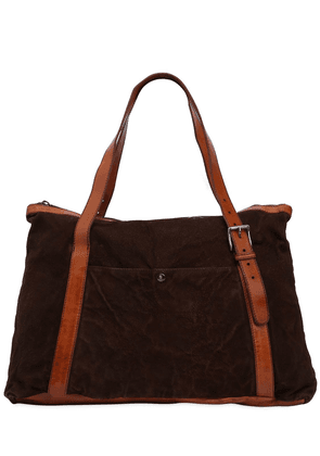 Textured Leather Bag W/ Vintage Effect