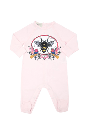 Bee Printed Cotton Jersey Romper