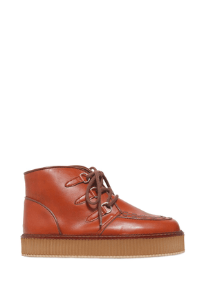 Faux Leather Chukka Boots