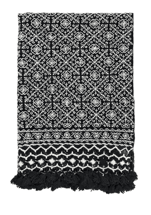 Nah Hand-embroidered Wool Throw