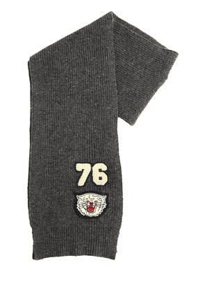 Tricot Scarf W/ Patches