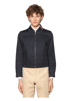 Zip-up Cotton Mackintosh Jacket