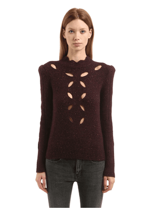 Cutouts Alpaca Blend Knit Sweater