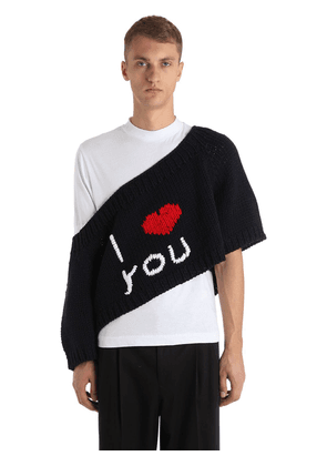 I Love You Oversized Wool Knit Sweater