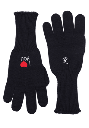 I Love You Embroidered Wool Gloves