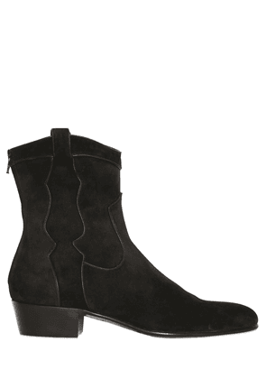 35mm Suede Western Boots