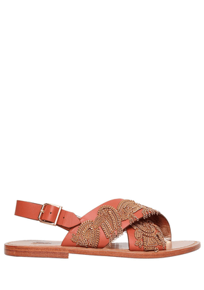 10mm Chain Leather Sandals