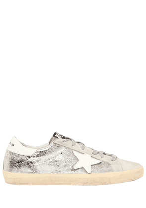 20mm Super Star Crackle Leather Sneakers