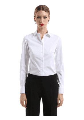 Stretch Cotton Poplin Shirt