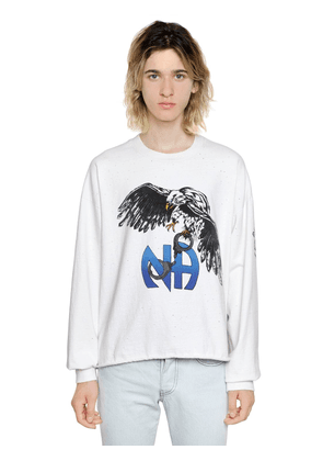 N.a. Stone Washed Cotton Sweatshirt