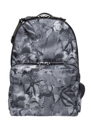 Butterfly Print Nylon Backpack