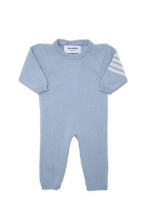 Cashmere Romper With Intarsia Stripes