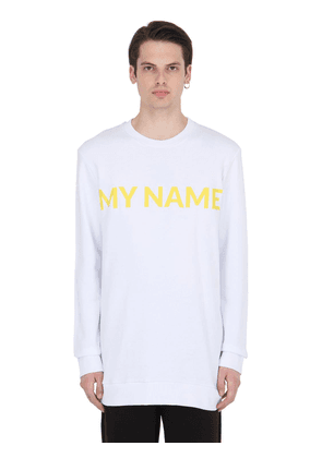 My Name Printed Sweatshirt